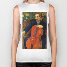 "Paul Gauguin ''The Cellist (Portrait of Upaupa Schekluthe)"" Biker Tank"