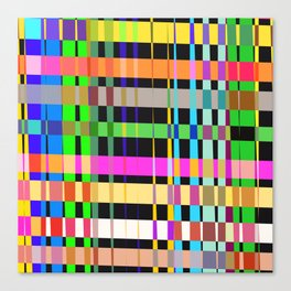 inclined coloured stripes Canvas Print