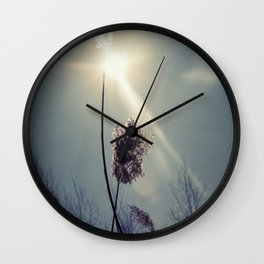 Blue light Wall Clock