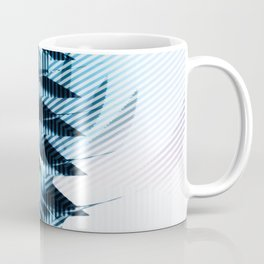 Futuristic building? Illusion with striped shapes and abstract light Coffee Mug