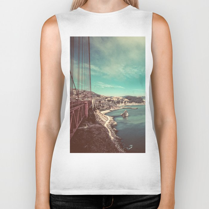 San Francisco Bay from Golden Gate Bridge Biker Tank