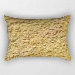 Yellow Cement Wall Rectangular Pillow