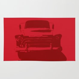 CHEVY PICKUP IN MONOCHROMATIC RED Rug