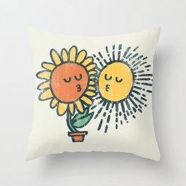 Sun Kissed sunflower Throw Pillow