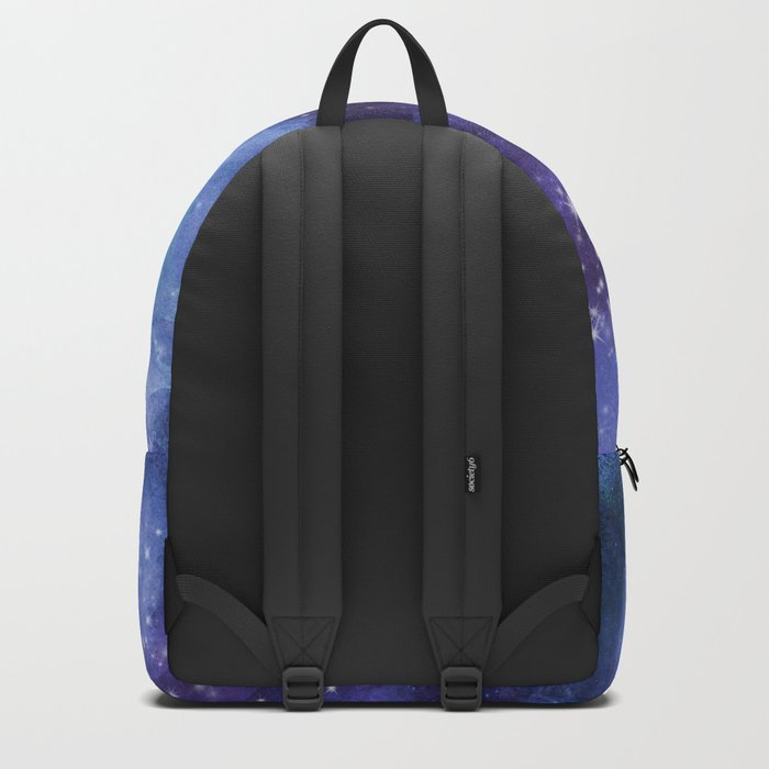 Stardust blue purple watercolor space Backpack