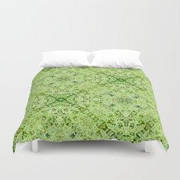Green Mandala Duvet Cover