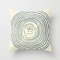 tree rings Throw Pillows featuring Tree Rings by Chase