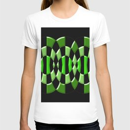 The Green Thang - Abstract Green and Black Retro Design T-shirt