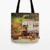 chuck Tote Bags featuring Chuck Wagon by Mary Timman