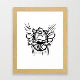 Buzzy Monster Framed Art Print