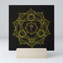 Solar Plexus Mandala Mini Art Print