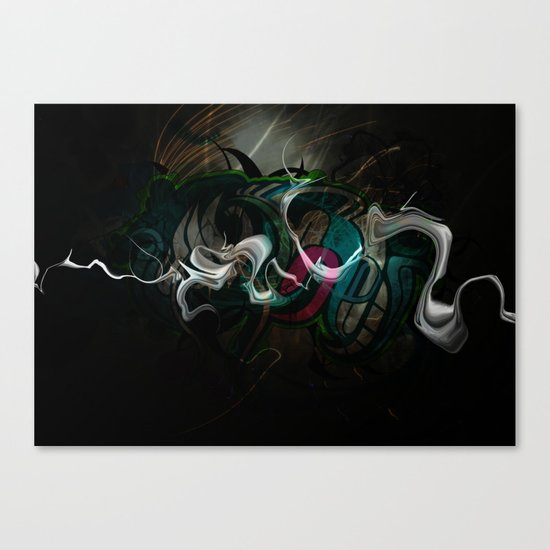 White Dragon Canvas Print