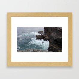 Breaking waves Framed Art Print