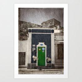 a green door in Portugal, the Alentejo Art Print