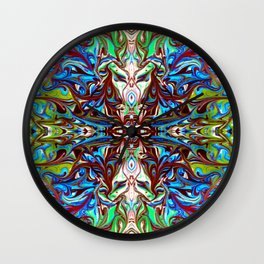 Colorful Abstract  Marbling ,Pattern Tradional Wall Clock