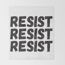 Resist Resist Resist Throw Blanket