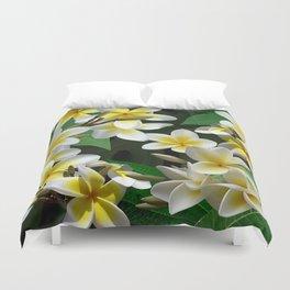 Plumeria Flowers Duvet Cover