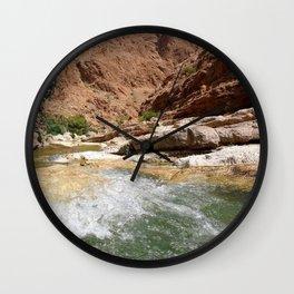 Wadi Shab Tiwi Oman Wall Clock