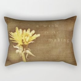 a wish in the making Rectangular Pillow