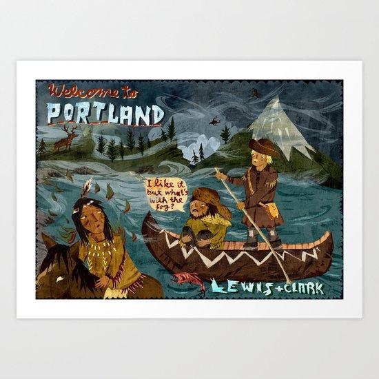 Postcard from Lewis + Clark Art Print