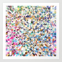 confetti Art Prints featuring Confetti by FRAXTURED