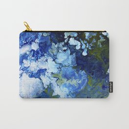 Abstract Nature Acrylic Pour Carry-All Pouch