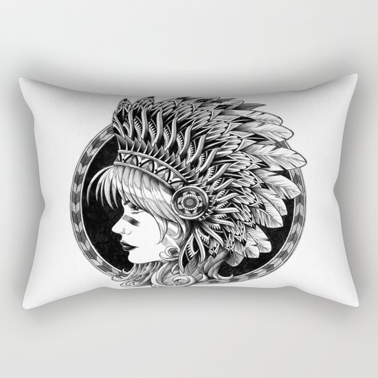 Headdress Rectangular Pillow