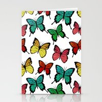 butterflies Stationery Cards featuring Butterflies by Julia Badeeva