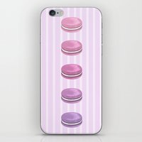macarons iPhone & iPod Skins featuring Macarons by noirbriar