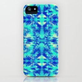 Blue Kaleidoscope iPhone Case