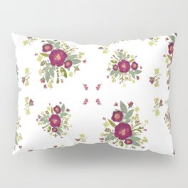 Red Rose Bouquets Pillow Sham