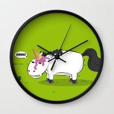 Damn! Bob, the Unlucky Horse! Wall Clock