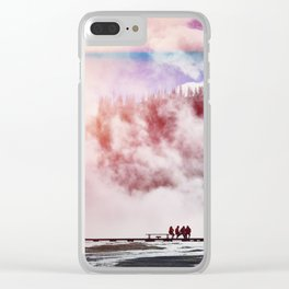 Hot Spring Silhouettes Clear iPhone Case