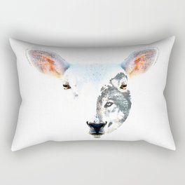 A Wolf In Sheep's Clothing by Sharon Cummings Rectangular Pillow