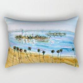Long Beach Oil Islands Before Sunset Rectangular Pillow