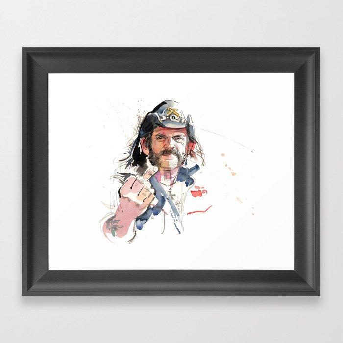 Lemmy Gerahmter Kunstdruck