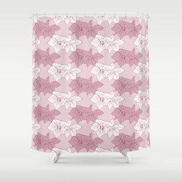 Burgundy Hellebores Shower Curtain