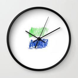 Flag of sierra leone 4 -salone,Sierra Leonean,Leone,Sierra Leona,freetown. Wall Clock
