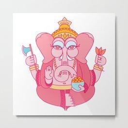 Wise Ganesha Metal Print