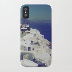 Santorini White & Blue Slim Case iPhone X