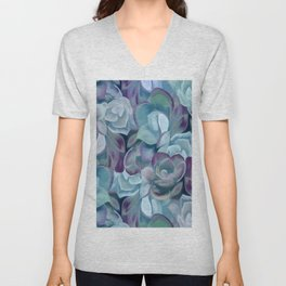 Blue Sedums Unisex V-Neck