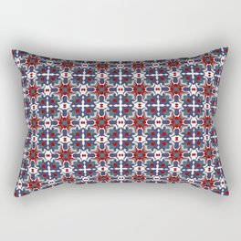 Bright blue and red crystals Rectangular Pillow