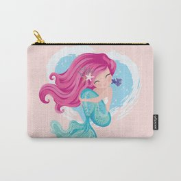 Cute mermaid illustration Carry-All Pouch
