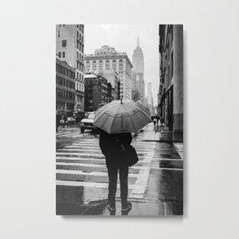 Rainy New York VIII Metal Print