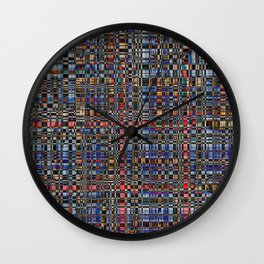 Multicolored pattern Wall Clock