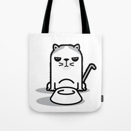 Mad Hungry Cat Tote Bag