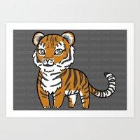 tigers Art Prints featuring TIGERs by hoshi-kou