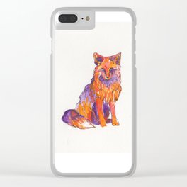Fox Red Clear iPhone Case
