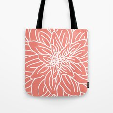Abstract Flower Coral Tote Bag