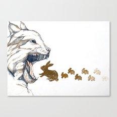 Linx vs. Rabbit Canvas Print